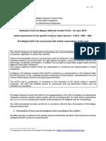 5. Belgian NCP Final Assessment