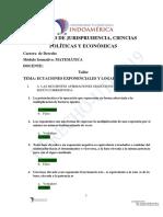 TAREA ECUACIONES EXPONENCIALES Y LOGARÌTMICAS +(1)
