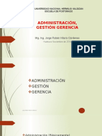 Administración, Gestión y Gerencia