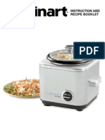 Rice Cooker CRC 400 Instructions
