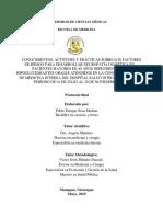 Conocimientos, actitudes y prácticas sobre factores de riesgo para desarrollar neuropatía diabética en pacientes mayores de 40 años
