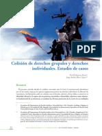 Colision de Derechos Grupales y Derechos