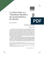 Jovem Marx e o Manifesto filosófico da escola histórica do direito