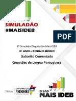 Gabarito Comentado Lingua Portuguesa