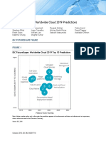 IDC FutureScape Worldwide Cloud 2019 Top Predictions Whitepaper