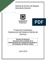 Glosario de términos Encuesta sobre el Estado de la Administración de la Gestión Documental en las Entidades del Distrito Capital