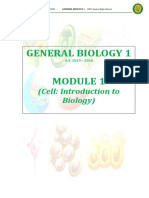 UNIT I (Cell - Introduction to Biology)