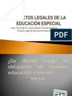 PPT - Aspectos Legales de Educación Especial