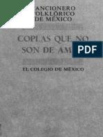 Cancionero Folcklorico de Mexico