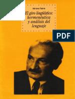 Fabris, Adriano - El giro lingüístico. Herméneutica y análisis del lenguaje.pdf