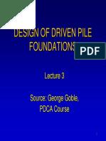 Design of Driven Pile Foundation