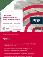 32 Cálculo de Incertidumbre en Mediciones Analíticas