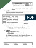 PGC-SO-011 Investigación de Incidentes Rev00