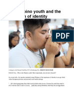The Filipino Youth and the Question of Identity