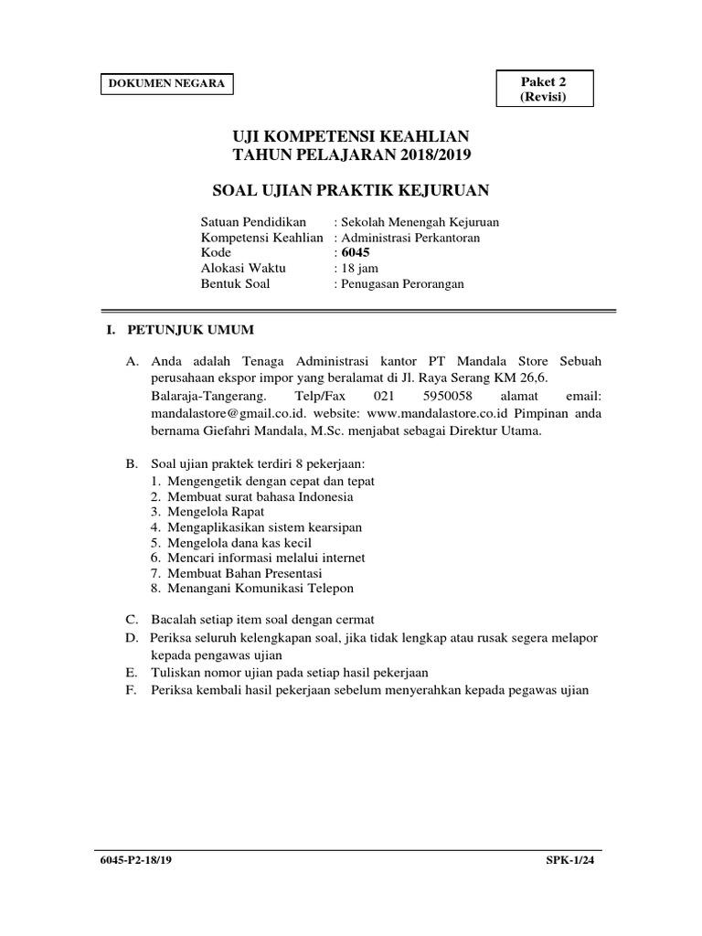 Soal Unbk Administrasi Perkantoran 2019 Ilmusosial Id
