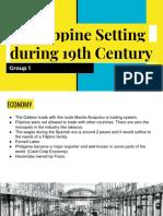 Philippine Setting During 19th Century