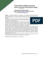 Peranan Berbagi Materi Kuliah Akuntansi Dalam Penggunaan e l earning d i Perguruan Tinggi