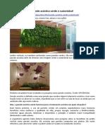PAISAGISMO - Parede Acústica Verde e Sustentável