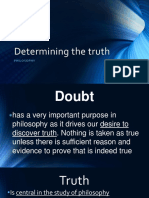 Determining the Truth