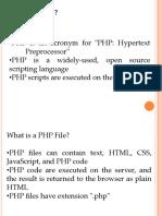 3. PHP Intro