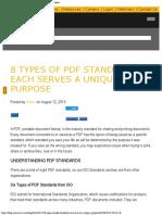 8 Types of PDF Standards – Each Serves a Unique Purpose