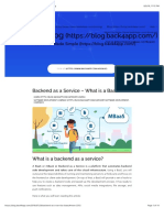 What is Backend as a Service (BaaS)?   back4app blog
