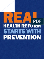 Prevention in Health Care Reform
