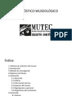 Diagnóstico Museológico Museo Taller Erasto Cortés