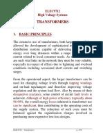 ELEC9712 - Lec7 - Transformers Notes