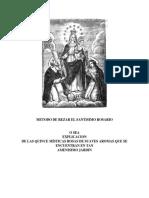 Metodo de Rezar El Santisimo Rosario