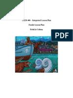 integrated lesson plan no pics