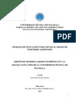 Diseño de Sendero Agroecoturístico en La Granja Santa Inés de La Universidad Técnica de Machala