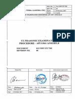 013 NDT-UT TSE API 1104 - Rev 00-2-21
