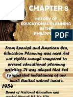 Chapter 8 Educational Planning