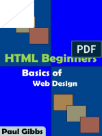 HTML Beginners Basics of Web Paul Gibbs