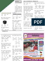 Examen de Matemática - rally 2019