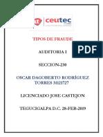 OscarRodriguez 31121727 Tarea-06 Tipos de Fraude