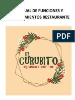MANUAL DE FUNCIONES Y PROCEDIMIENTOS RETAURANTE CAFÉ BAR EL CURUBITO.docx