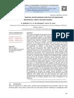 PATTERN OF RESIDENTIAL WATER DEMAND ANALYSIS FOR MAIDUGURI METROPOLIS, NORTH-EASTERN NIGERIA