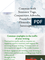 Commas Sentence Tags Conjunctive Adverbs 41