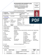 Admission Form Rajhans Vmou