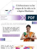 Celebraciones en Las Etapas de La Vida en La Religión Hinduista