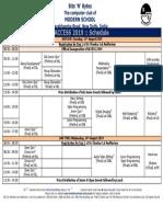 Schedule 2019