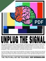 Unplug the Signal Poster