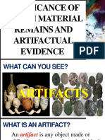 Lesson 12A Significance of Human Material Remains and Artifactual Evidence