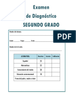 2do Grado - Examen de Diagn¢stico (2019-2020)
