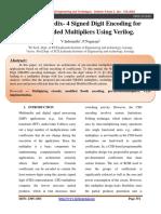 Design of Radix-4 Signed Digit Encoding for Pre-Encoded Multipliers Using Verilog