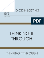 How Did Odin Lost His Eye