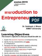 Lecture 1. Intro to Entrepreneurship