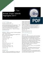 International Tax - British Virgin Islands Highlights 2017